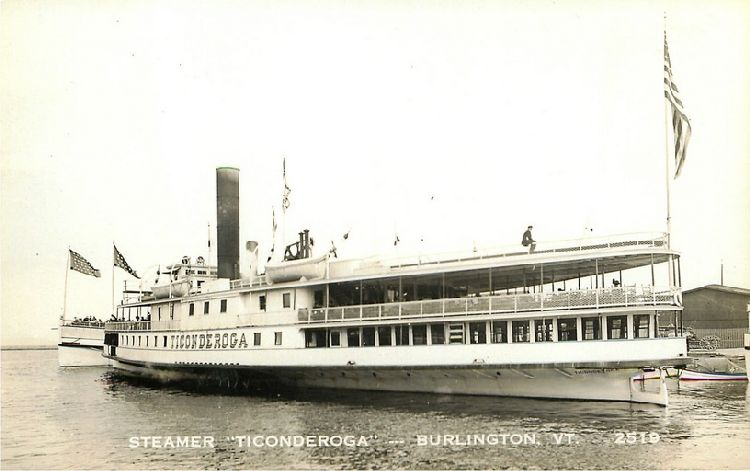 "Steamer ""Ticonderoga"" - Burlington, VT - No. 2519"