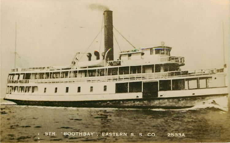 "Str. ""Boothbay"", Eastern S.S. Co. - No. 2533A"