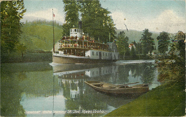 Steamer Idaho leaving St Joe River Idaho