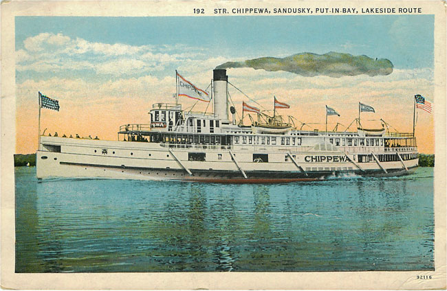 Steamer Chippewa Sandusky Put in Bay