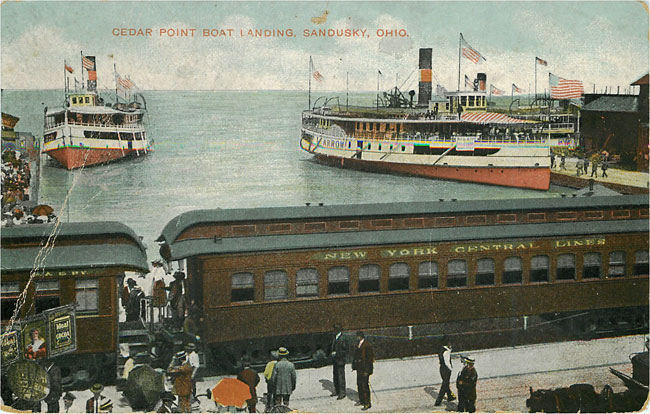 Steamer Train Cedar Point boat Landing Sandusky Ohio