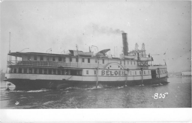 Steamer Beloeil out on the waters. No. 835