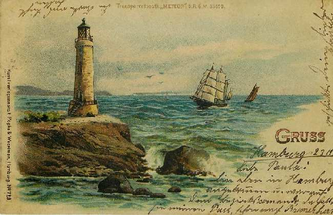 Lighthouse and Clipper Ship - Germany