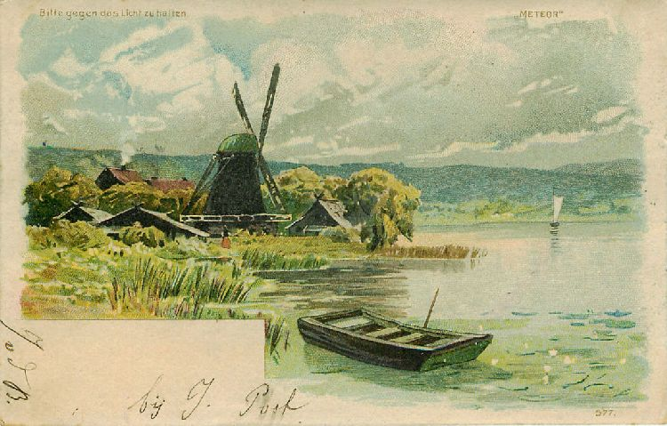 Windmill and Rowboat - Netherlands