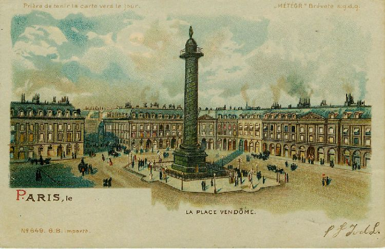 Paris - La Place Vendome - France