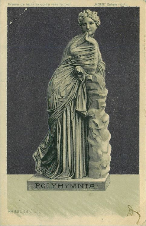 Polyhymnia - Statue of Polyhymnia Leaning on Pillar