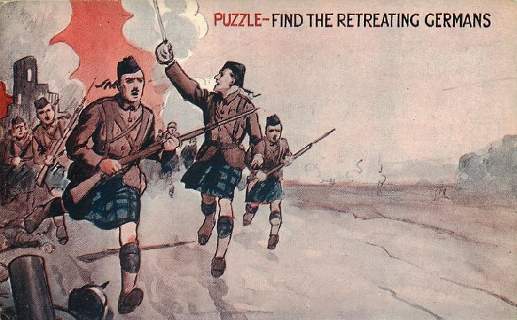 Puzzle - Find the Retreating Germans