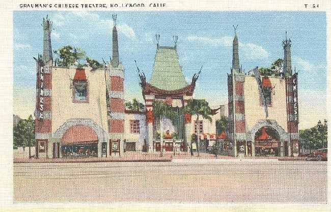 Grauman's Chinese Theatre, Hollywood, Calif.