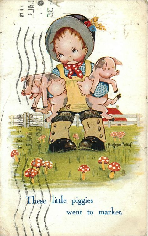 """These little piggies went to market..."" - Boy Holding Two Pigs"