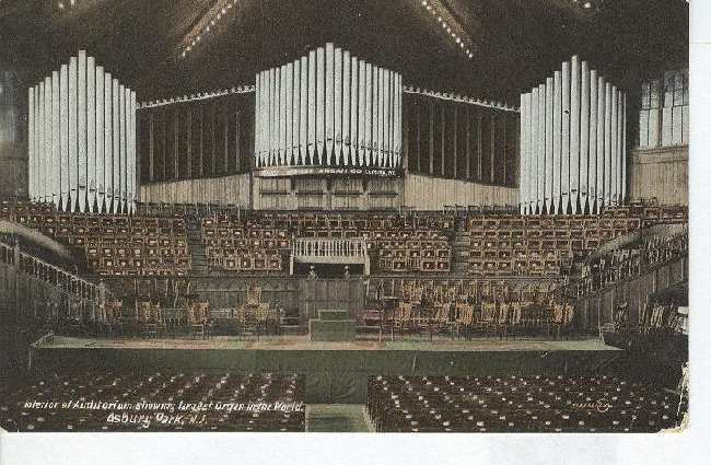 Interior of Auditorium Showing Largest Organ in the World