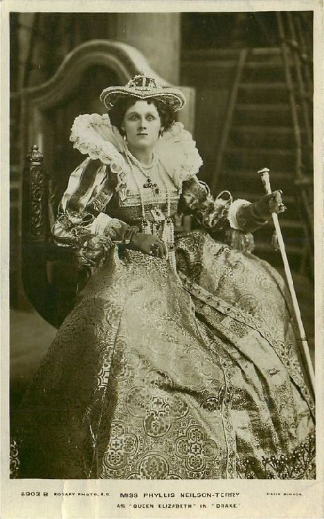 "Miss Phyllis Neilson-Terry in ""Drake"" Postcard"