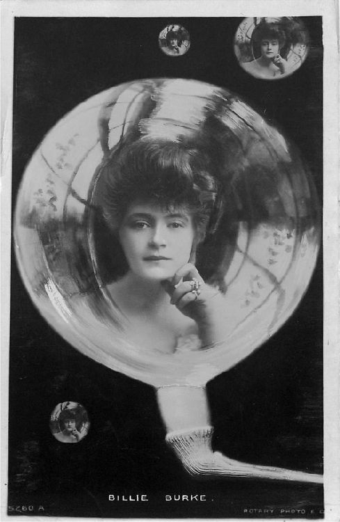 Billie Burke in a Bubble - No. 5260 A Postcard