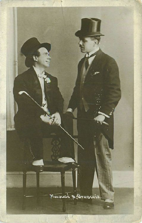 Maid Woman & Man in a Top Hat