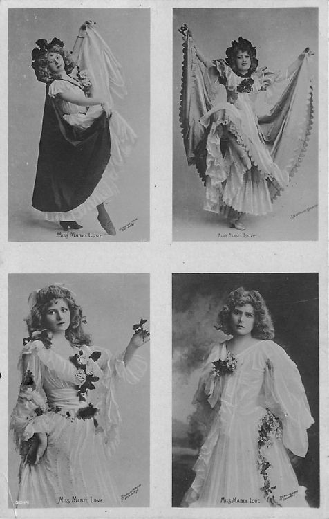 Miss Mabel Love - Four Photographs Postcard