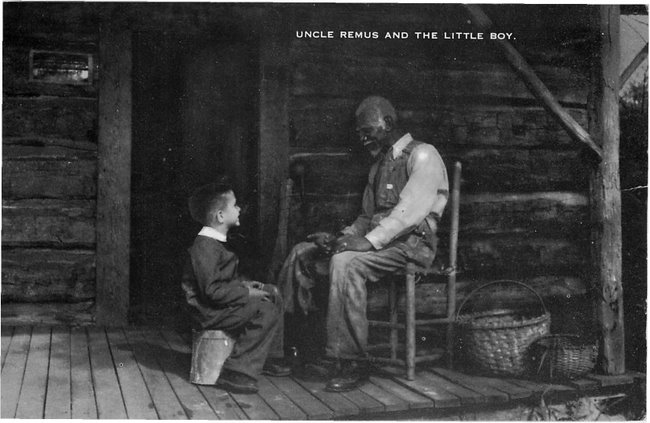 Uncle Remus and The Little Boy- The Wren's Nest postcard