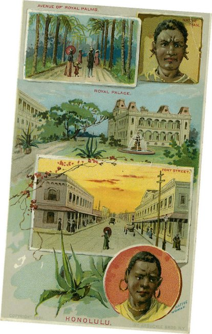Black Americana Postcard - Views from a trip around the world.