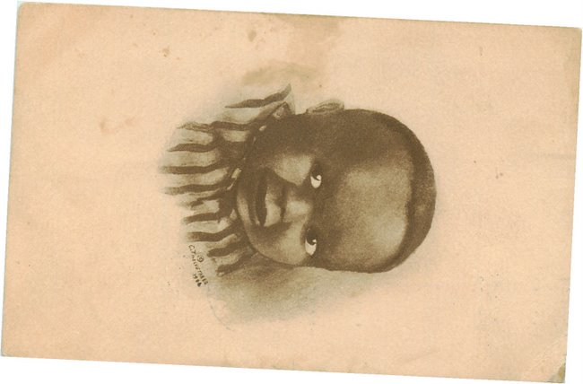 Photo of Black Baby - signed postcard
