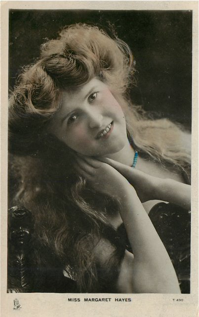 Miss Margaret Hayes Edwardian Actress Postcard