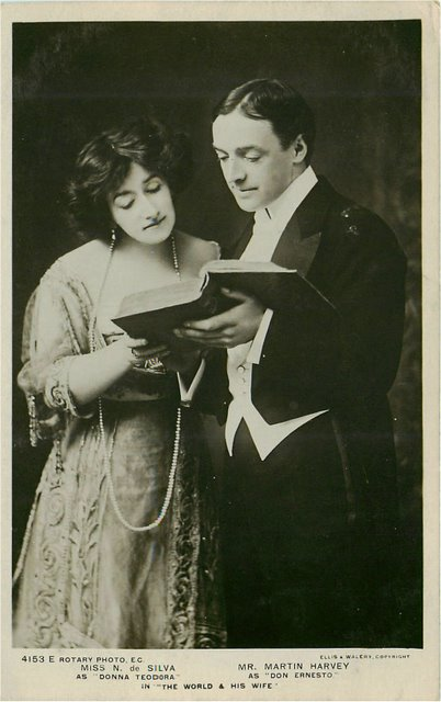 """The World & His Wife"" Edwardian Actor/Actress Postcard"