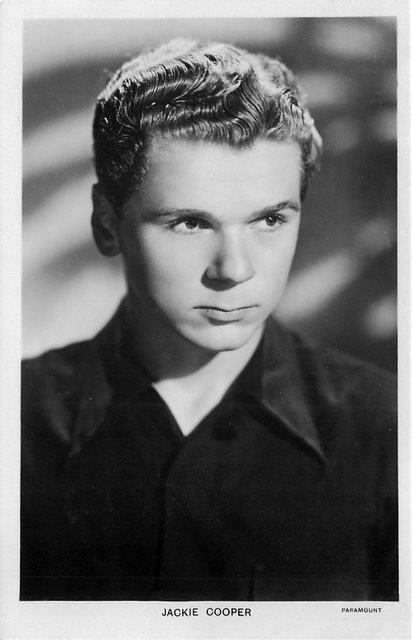 Jackie Cooper Paramont Pictures Actor Postcard
