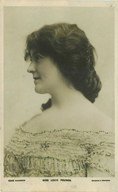 Miss Louie Pounds Edwardian Actress Postcard