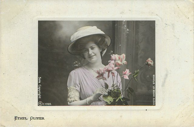 Ethel Oliver Aristophot Real Photo Postcard A.L. Series