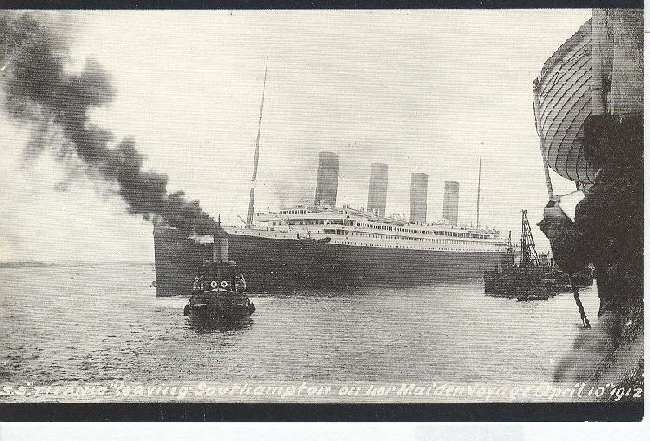 S.S. Titanic Leaving South Hampton April, 10, 1912 Reproduction