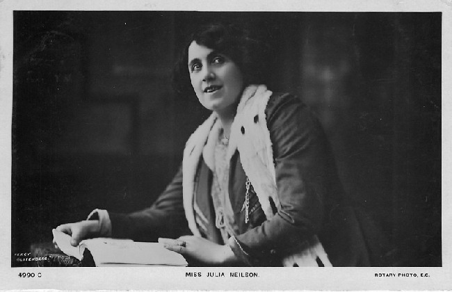 Miss Julia Neilson - No. 4990 C Postcard