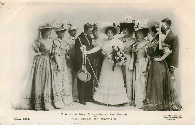 Miss Edna May & Guests at the Bazaar in The Belle of Mayfair