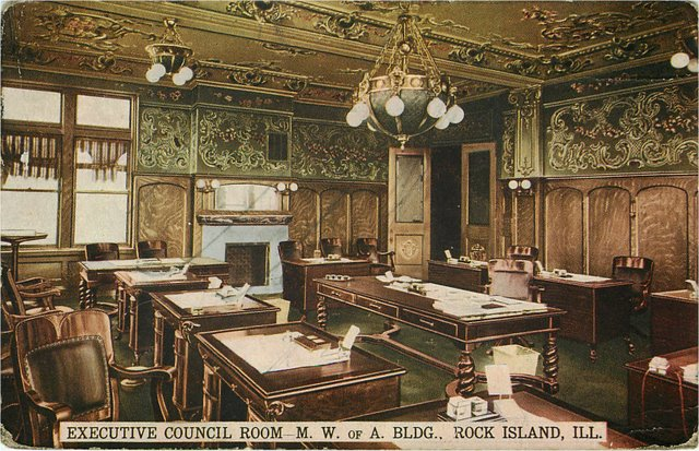 Executive Council Room M.W. of A. Building Rock Island IL