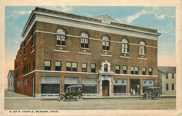 K. of P. Temple, Newark Ohio Club Postcard