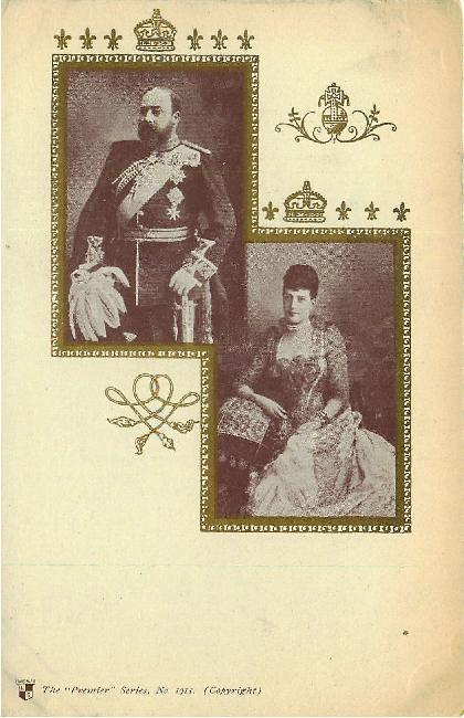 King Edward VII & Queen Undivided Back