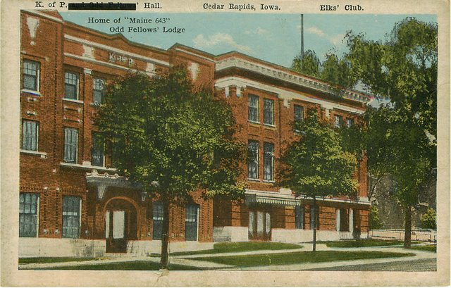 Home of Maine 643 Odd Fellows Lodge Postcard