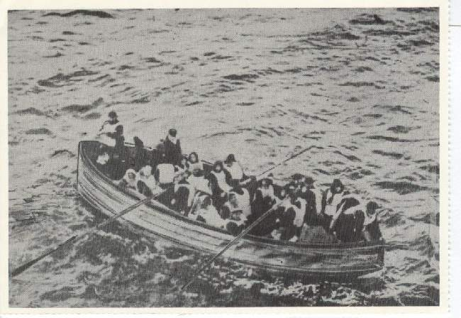 A Lifeboat of Survivors from the Titanic (1912) Reproduced 1988