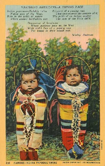 Famous Indian Papoose Twins - Vanishing Americans