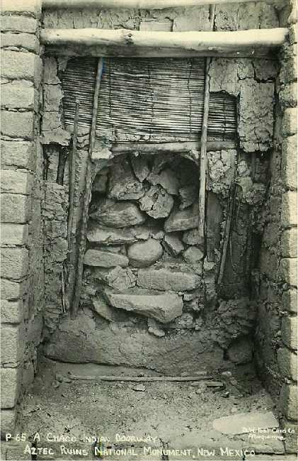 A Chaco Indian Doorway - Aztec Ruins National Monument, NM