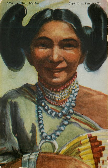 A Hopi Maiden Indian Postcard