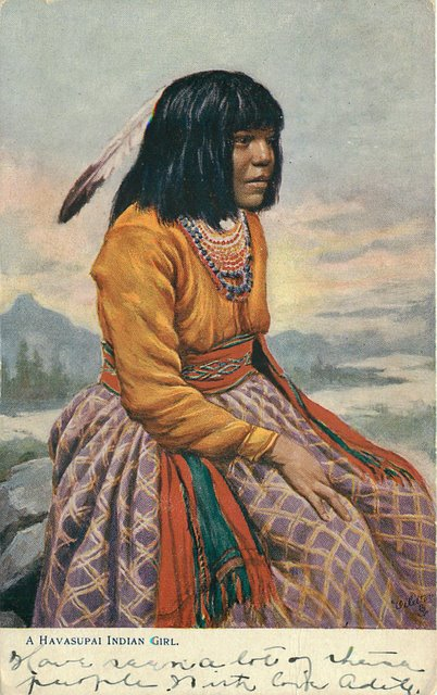 A Havasupai Indian Girl Postcard