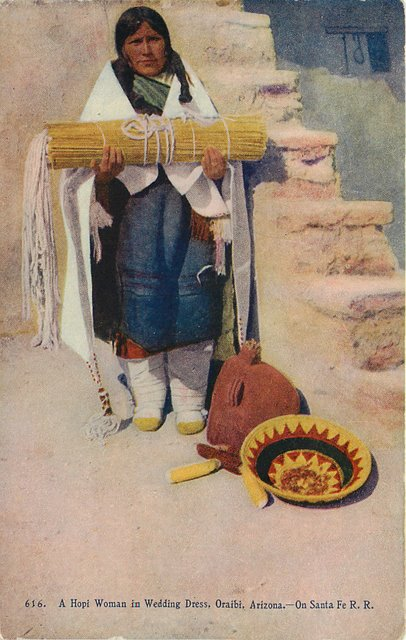 A Hopi Indian Woman In Wedding Postcard