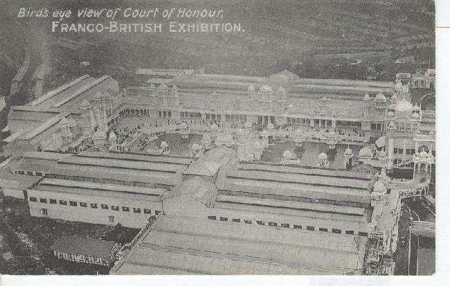 Birds Eye View of court of Honour, Franco-British Exhibition