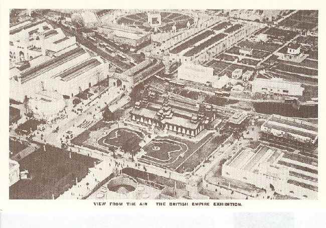 View From The Air. The British Empire Exhibition