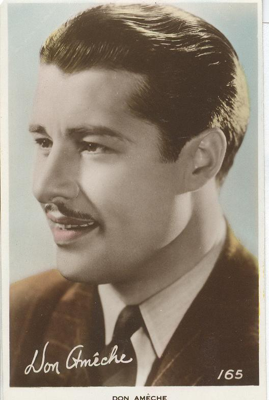Don Ameche Signed Postcard