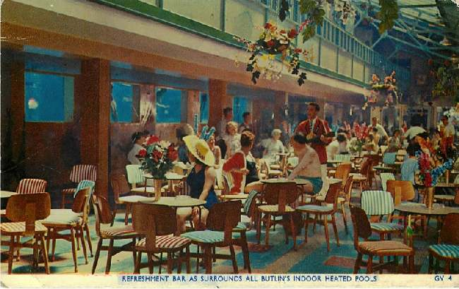 Refreshment Bar as Surrounds All Butlin's Indoor Heated Pools
