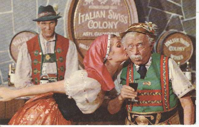 Alcohol Postcard - Italian Swiss Colony
