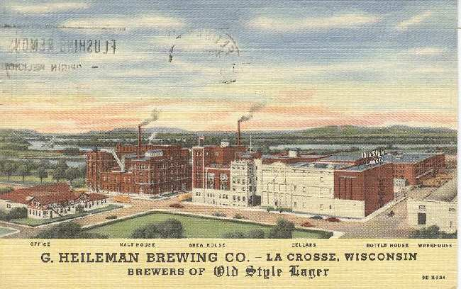 Alcohol Postcard - G. Heileman Brewing Co. Postmarked 1957