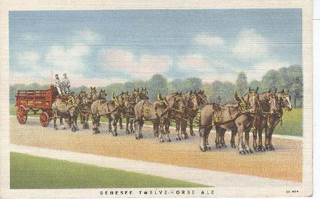 Alcohol Postcard - Genesee Twelve-Horse Ale