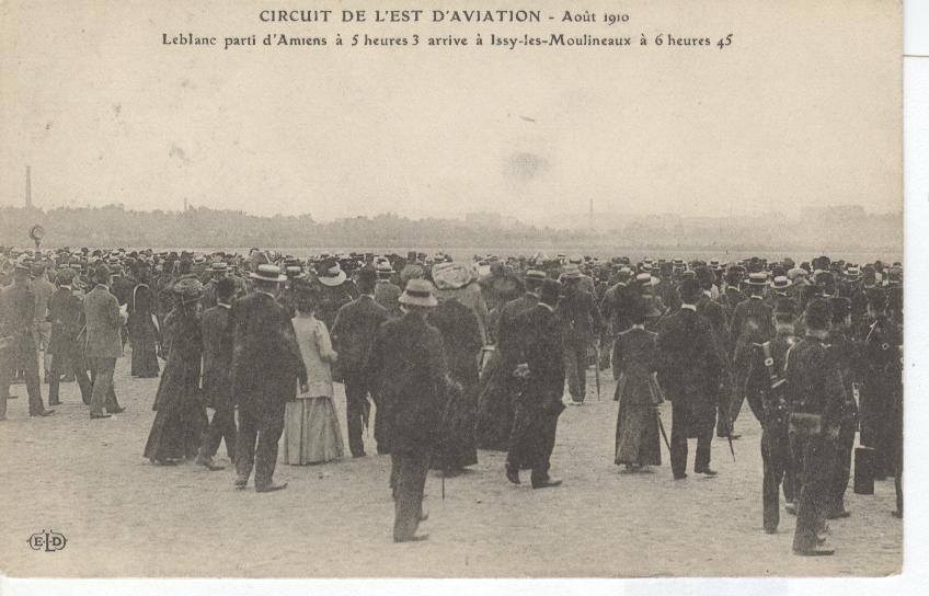 CIRCUIT DE L'EST D'AVIATION Aout 1910 LeBlanc