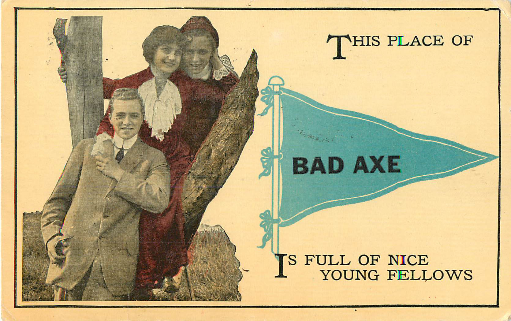 This place of Bad Axe - Pennant Postcard