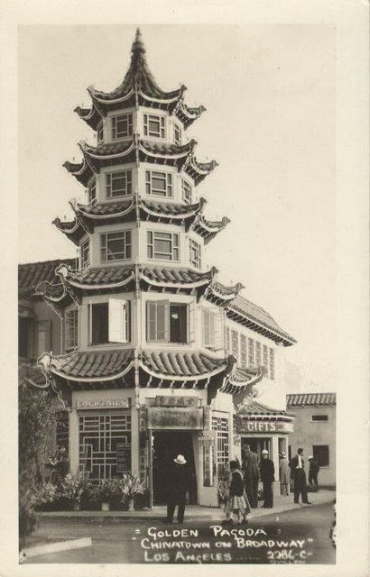 Golden Pagoda- Chinatown on Broadway - Los Angeles, CA