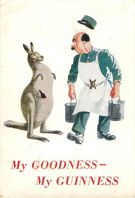 Advertising Postcard - My Goodness, My Guinness